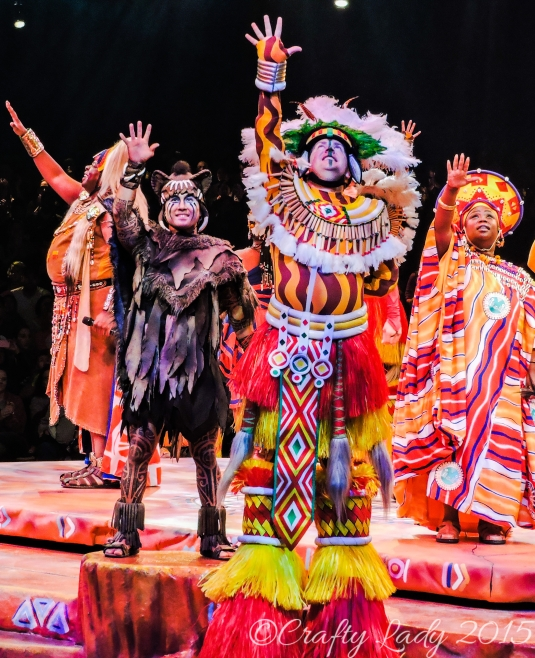 Costumes at the Lion King Show
